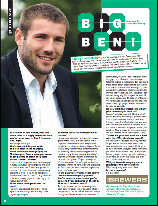 ben thomas rugby. rugby player Ben Cohen: