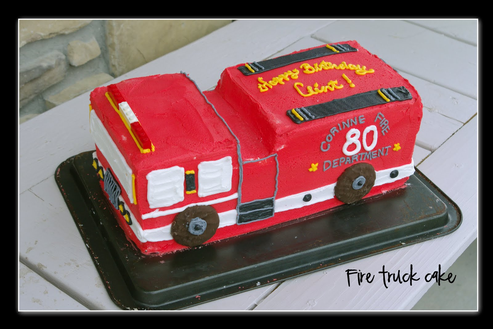 Nans Recipe Spot Fire Truck Birthday Cake