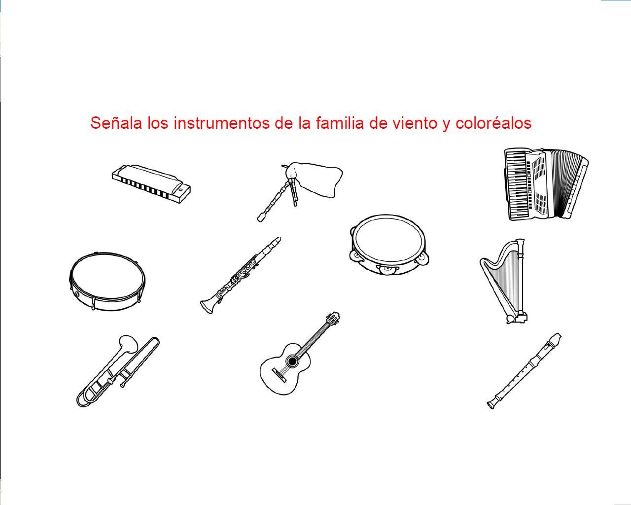 Instrumentos Musicales De Viento Para Colorear Tattoo