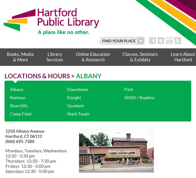 Albany Branch Community Room Hartford Public Library