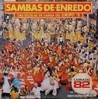 foto da capa do cd sambas de enredo 1982 grupo de acesso
