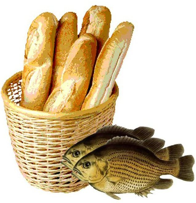 Saint marty october 3 went to church walked about for Five loaves two fish