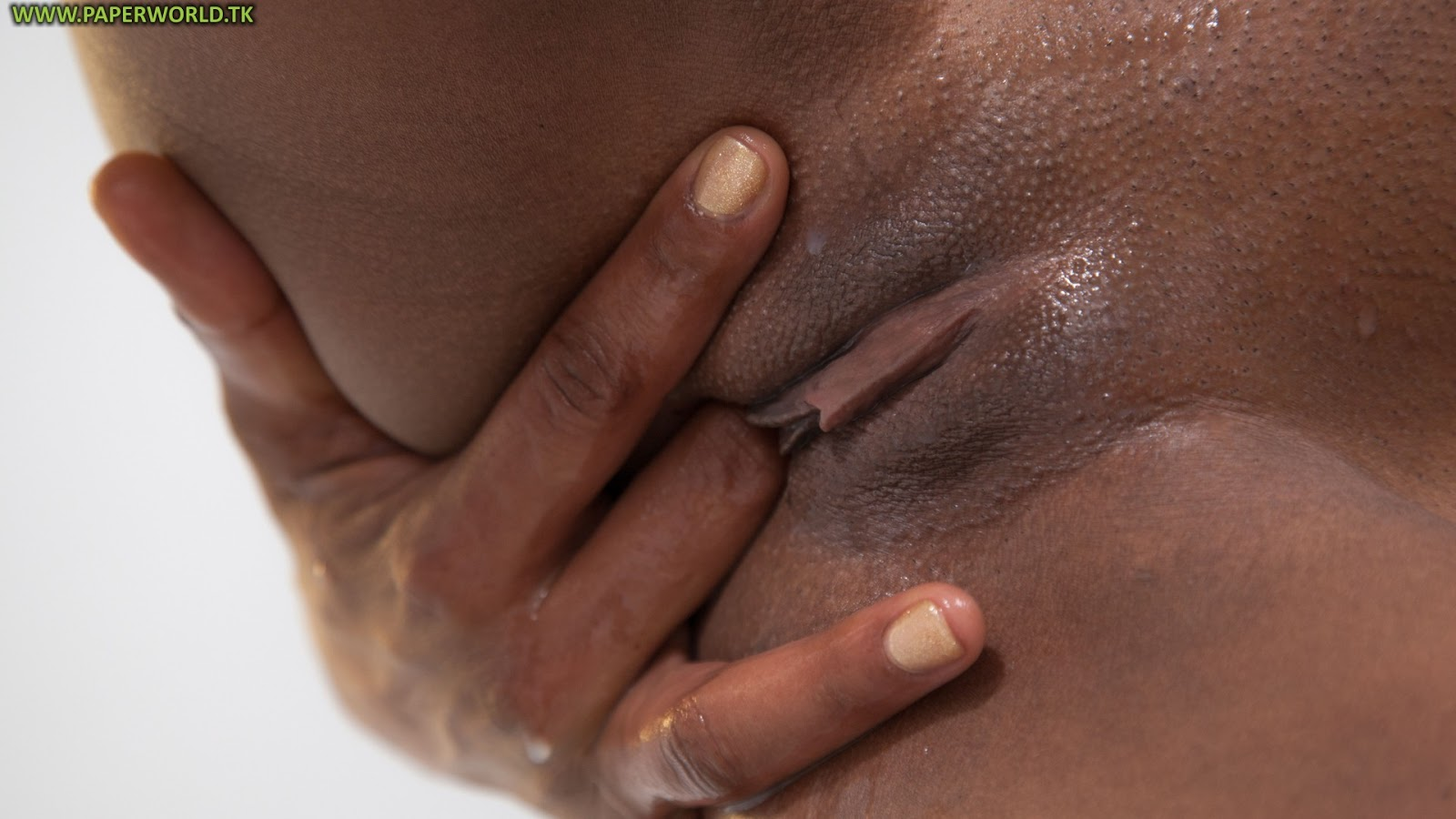image Close up ebony pussy taking dildo