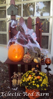 Halloween Picket Bench