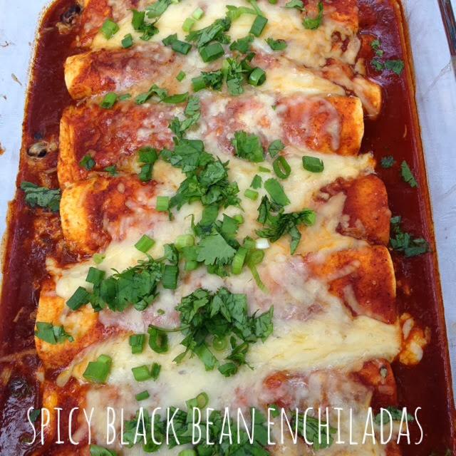Are not spicy black bean enchiladas recipe suggest