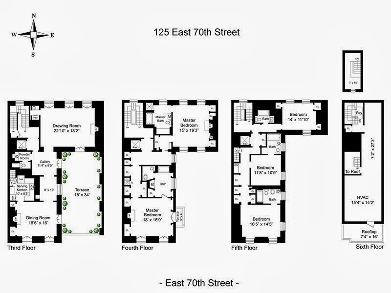 new york townhouse floor plans. Floor Plans as they appear in the 2013 offering by Sotheby s International  Realty The Devoted Classicist Mellon White Townhouse Another Manhattan
