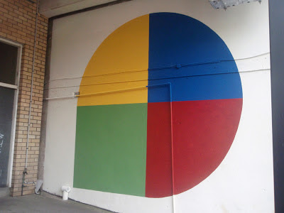 kate mackay, circle square, wall, factory 49, non 0bjective, geometric abstraction, aurora biscuit factory
