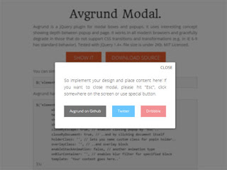 Avgrund Modal : jQuery plugin for Modal overlay