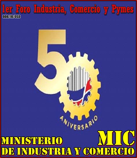 EN EL 50 ANIVERSARIO MINISTERIO DE INDUSTRIA Y COMERCIO-MIC. 27 JULIO DE 8:00 A 12:00 MEDIODIA