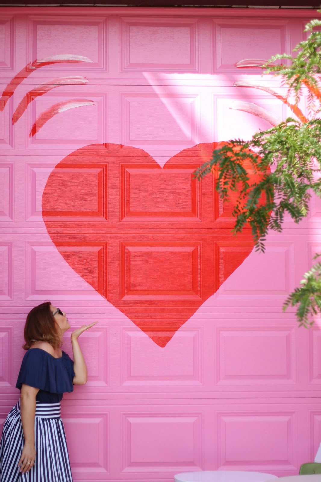 wall, mural, heart, pink, chicago