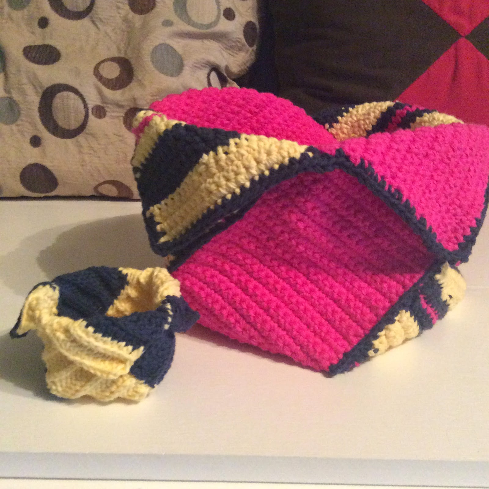 ... by EveryDayWomanCrochet: Must Have Pattern: Pink Crocheted Baskets