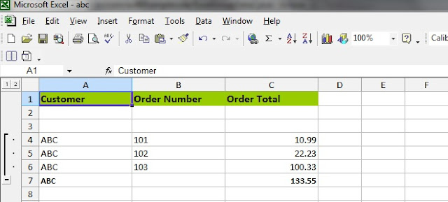 Apache POI Excel GroupRow Collapse Expand and setCellFormula