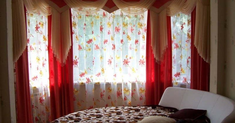 Contemporary red drapes curtain design for bedroom curtain designn