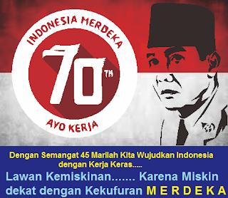 Logo HUT RI Ke 70 Tahun 2015