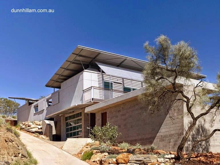 Casa residencial sustentable en el desierto australiano