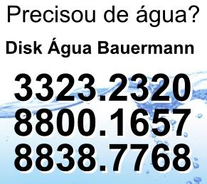 Disk Água e agenda Bauermann
