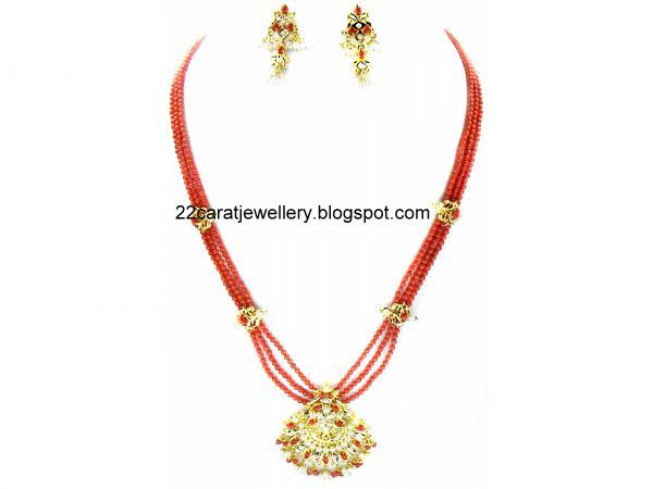 coral beads jewellery jewellery designs