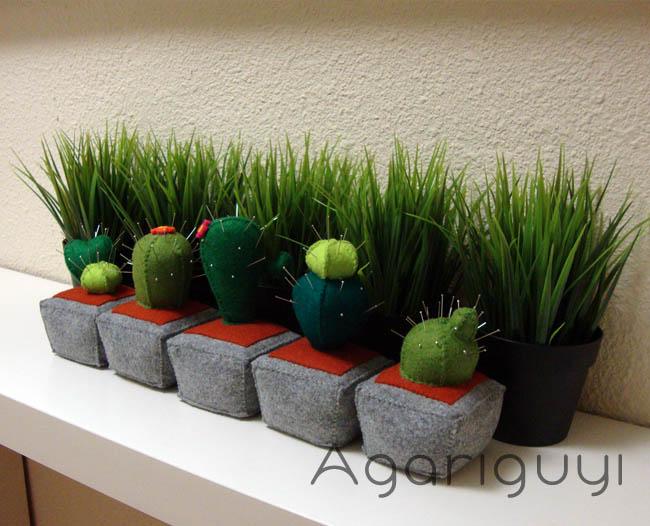 Agariguyi complementos de fieltro cactus de fieltro for Cactus decoracion