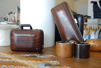 Wooden clutches by Namu in Bali