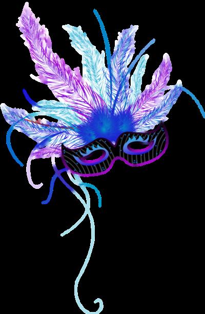 Máscara Carnaval PNG - Simples blue