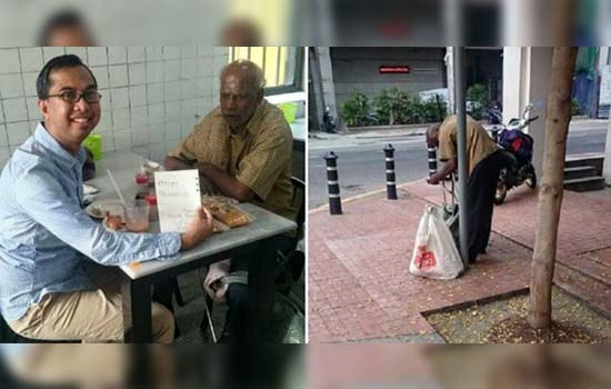 Kejutan Deepavali Istimewa Lelaki Melayu Ini Buat Pakcik Buta