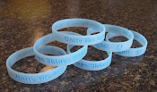 Youth Size Blue Glow-in-the-dark Wrist-band (Item# 4-C)