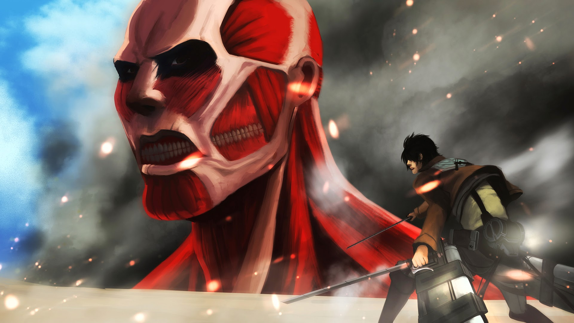 Eren Colossal Titan Attack on Titan 5o Wallpaper HD