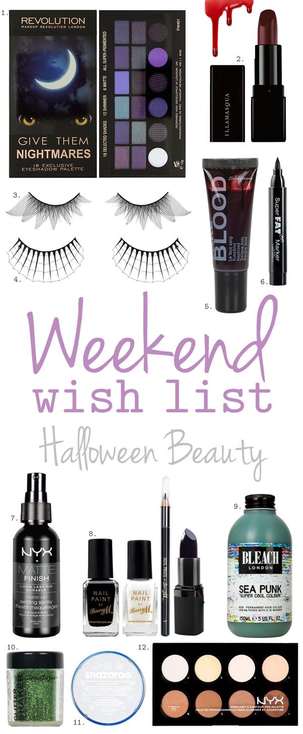 Weekend Wish List – Halloween Beauty