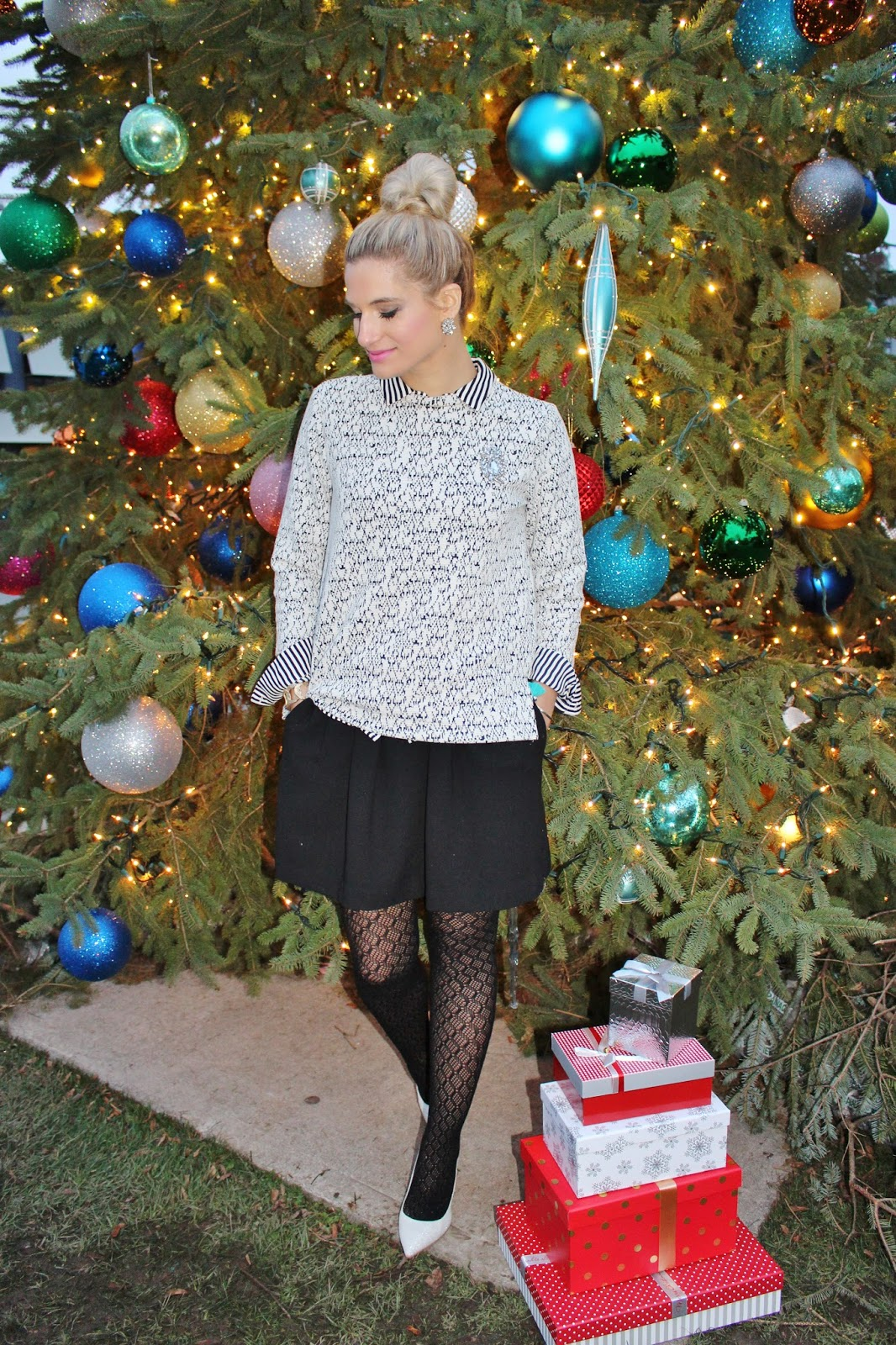 Bijuleni - Holiday Classy Skirt and Top Look