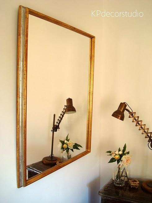 Kp tienda vintage online espejo dorado de madera marco for Espejos plateados para salon