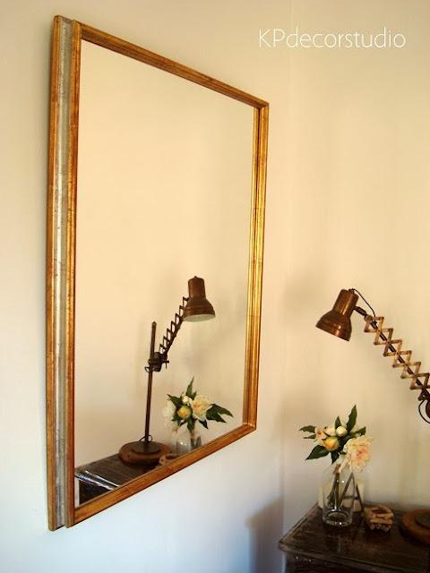 Espejos online de madera dorados con pan de oro. Espejos artesanales