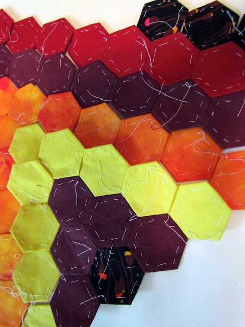 English Paper Piecing....Hexagons WIP