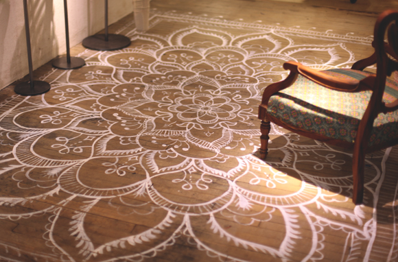 Moon to moon diy home painted and stencilled flooring for Painted wood floor ideas