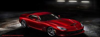 Couverture facebook voiture rouge SRT viper GTS R 2013