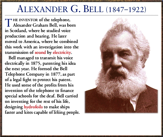 the life achievements and inventions of alexander graham bell Alexander graham bell invented the telephoneississ he tutored hellen keller he opened a school for teachers of the deaf in boston, massachusetts.