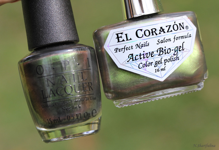 OPI Green on the Runway VS El Corazon Mojito