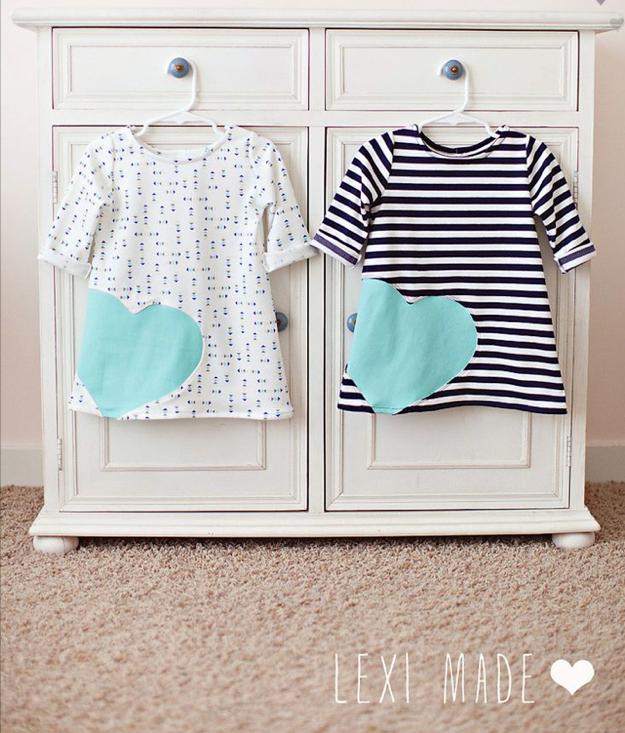 Tutorial vestido con aplique en forma de corazón para niña