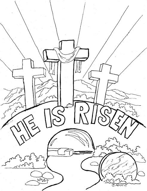 Light Sunday School Coloring Page