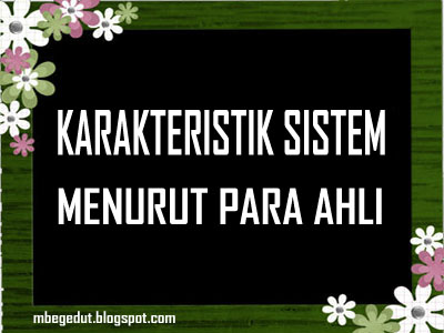 sistem, karakteristik sistem, pengertian sistem, sistem informasi