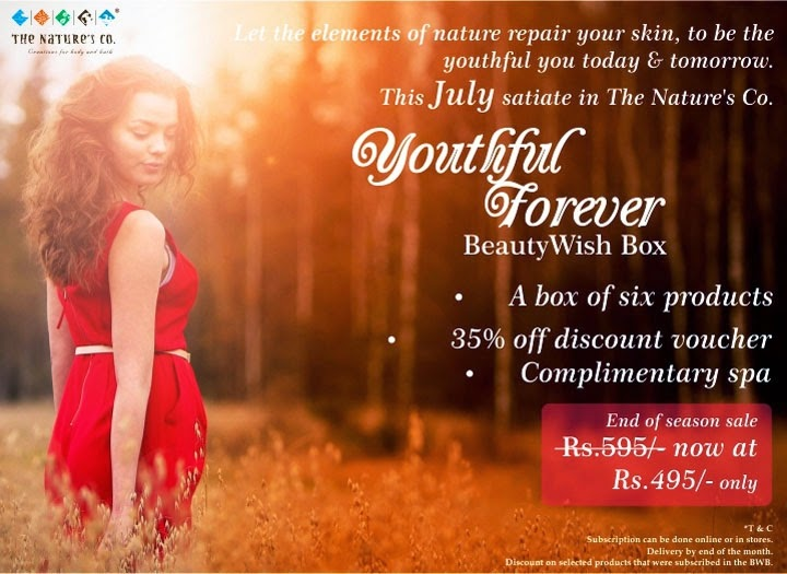 "The Nature's Co. July special ""Youthful Forever"" BeautyWish Box image"