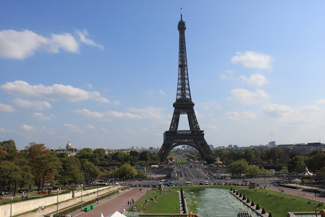 Beautiful Eiffel Tower was taken in the daytime in Paris, France