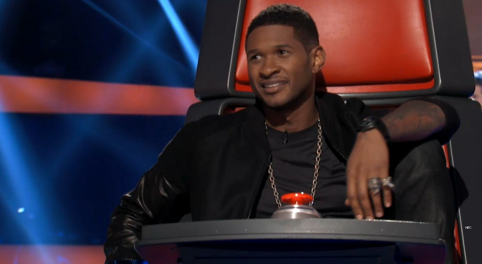 Usher s the competitive guy on the voice season 4 hollywood junket