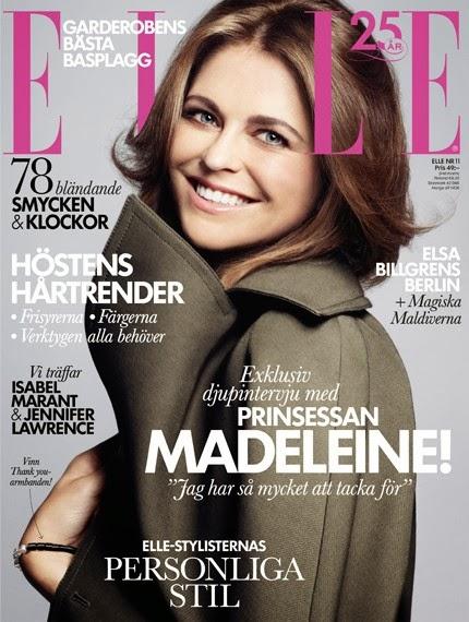 Prinsessan madeleine på omslaget av elle i november