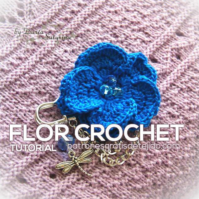 Flor Crochet en 3D ~ Paso a Paso | Crochet y Dos agujas - Patrones ...
