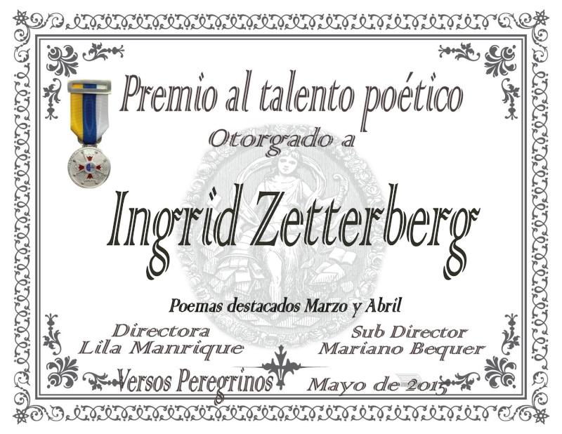 Premio al Talento poético en Versos peregrinos