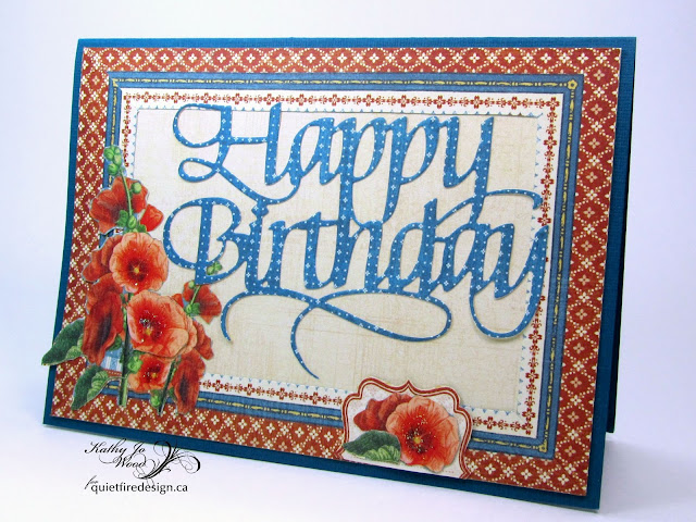 Happy Birthday, Elizabeth Craft Designs, Graphic 45, Home Sweet Home, Quietfire Design, card