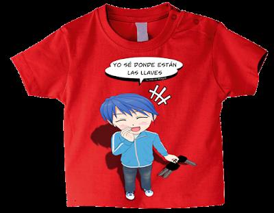 """Camiseta manga corta para bebé """"Matarile-rile-rile"""" color rojo"""