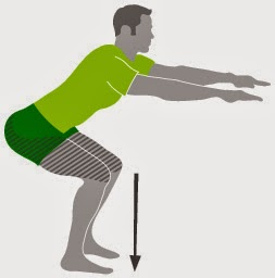 Exercise for thigh fat - Squats