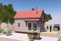 modelo de pequeña casita de lado
