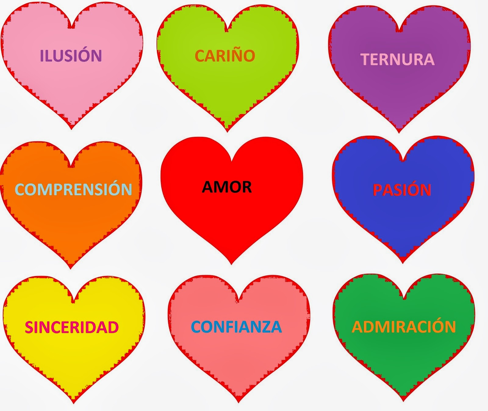5 corazones:
